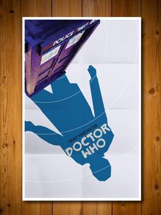 Doctor Who Movie Poster. via Etsy.