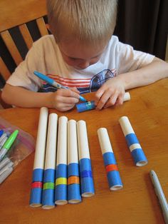 DIY Palm Pipes - made with PVC pipe cut to a variety of lengths to make the notes of the F major scale
