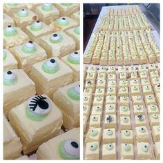 Monsters, Inc inspired bites! Layer Cheesecake, Cheesecake Bites, Vanilla Buttercream Frosting, Menlo Park, Monsters, Baking, Inspired, Holiday Decor, Board