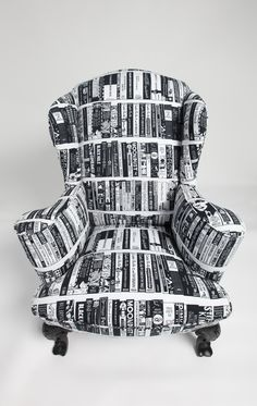 Reading chair from fabric design by Serge Seidlitz sergeseidlitz.tumblr.com/ want.