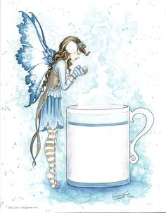Amy Brown Hot Cocoa, Print #fantasyart #amybrown #coffeeandtea