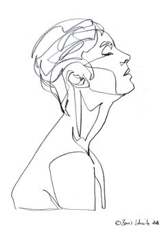 """Gaze 475″, continuous line drawing by Boris Schmitz"