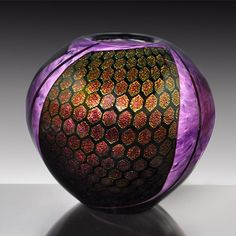 Purple Dichroic Vase - Tim Lazer. See his work at Earthwood Collections in Estes Park