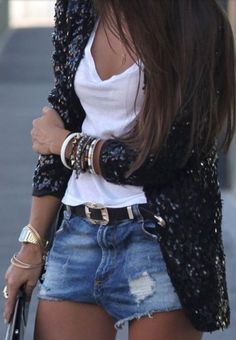 Sequins with casual wear