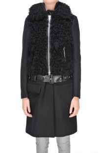 Sacai - Cappotto in misto lana :: Glamest Luxury Outlet Online Donna