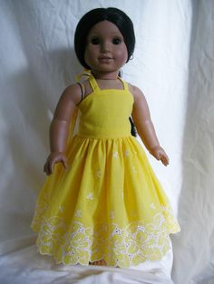 American Girl doll halter dress by ExquisitelyUpcycled on Etsy, $28.00