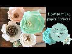 How to Make Paper Flowers DIY Video - Jami Ray Vintage