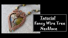 Framed Tree Of Life Cabochon Pendant Wire Wrap Tutorial Wire Tutorials, Jewelry Making Tutorials, Wire Wrapped Earrings, Wire Wrapped Pendant, Wire Earrings, Wire Tree Necklace, Gemstone Necklace, Bijoux Fil Aluminium, Jewelry Hanger