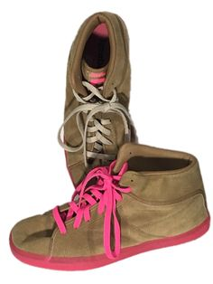 Reebok T Raww V55642 Brown Neon Pink Sneakers Tyga Young Money Shoes Mens  11 - Preowned efcee0dd0