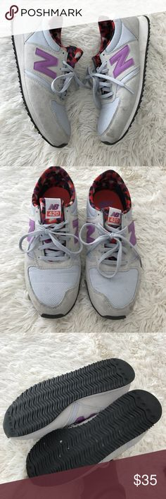 New Balance 420 Gray Purple Sneakers Active Shoes Marks from normal wear. No tears. See photos for true description. New Balance Shoes Sneakers