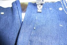 Fantastic 20 Sewing tutorials tips are offered on our web pages. Check it out and you will not be sorry you did. Sewing Projects For Beginners, Sewing Tutorials, Sewing Patterns, Denim Crafts, Handmade Christmas Gifts, Trouser Pants, Couture, Blog, Diy