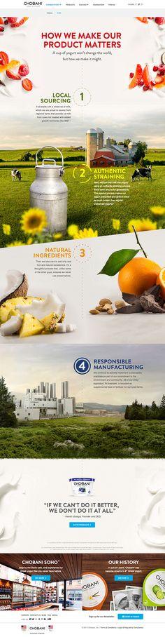 Unique Web Design, Chobani #WebDesign #Design (http://www.pinterest.com/aldenchong/)