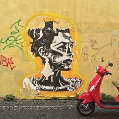 Scooteromatours's photo of Rome street art (and scooter!) on Instagram.