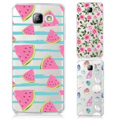Phone Cases For Samsung Galaxy A3 A5 A7 J1 J5 J7 2016 Fruit Watermelon Pattern Transparent Hard PC Cover Fashion Colorful Coque