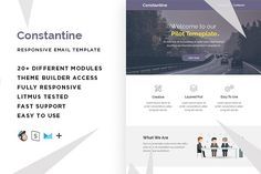 Constantine – Email template+Builder by ThemesCode on @creativemarket
