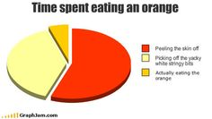 Pie graph - Time spent eating an orange