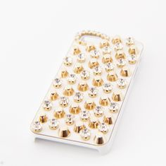 Gold shine, Iphone 5 cases! simple studs and it's only $39.99
