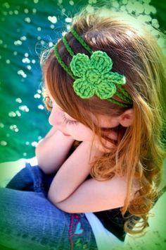 Pattern Shamrock Headband -4 Leaf Clover - PDF - st Patricks Day
