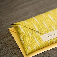 I'm a little obsessed with that cloth envelope. (via seesawdesigns)