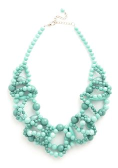All I Wanna Dewdrop Necklace. Have some sweet summer fun in this strikingly beautiful statement necklace. #blue #modcloth