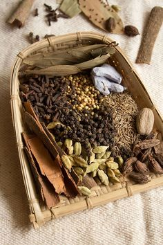 The Ingredients for Garam Masala (Spices)