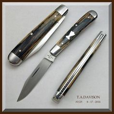 Todd Davison Folder - #1125 Mammoth Ivory Closed - 3 3/4'' Hand Finished