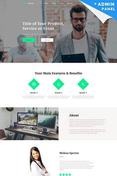 Business Responsive Landing Page Template #65025