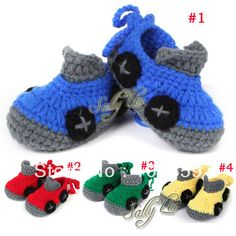 Crochet Pattern Baby Shoes Booties Newborn Infant First Walker Boots Handmade Toddler Slippers Shoe 10 Pairs XZ015-in First Walkers from Sho...