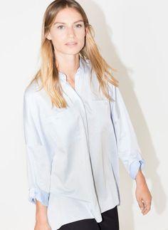 Uterqüe Portugal Product Page - Ready to wear - Camisas e blusas - Camisa oversize azul-celeste - 69