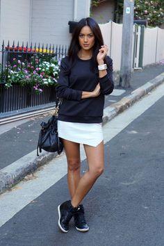 falda pegada blanca