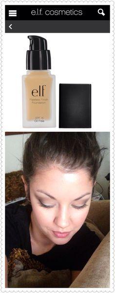 ELF flawless finish foundation. ELF makeup