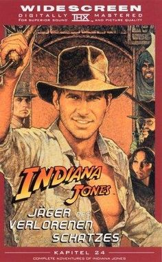 Indiana Jones and the Raiders of the Lost Ark, German VHS edition: 1999. Original: 1981.