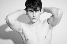 Up and comer Patrik Podkonicky with M-Management in Bratislava updates his portfolio with a recent series captured by fashion photographer Manfred Langer. Shirtless Men, Fresh Face, Black And White, Fashion, Lens Flare, Clean Face, Moda, Blanco Y Negro, Fashion Styles