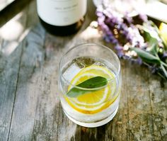 Lavender sage gin and tonic - recipe could be made virgin pretty easily too!