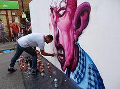 Top graffiti artists show off their work at the Urban Art Fair, Brixton, Sunday July 2013 Banksy, Famous Graffiti Artists, City Clean, Urbane Kunst, Street Wall Art, 2d Design, Art Fair, Urban Art, Art Google