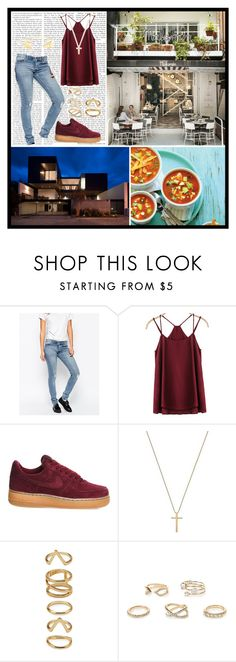 """""""Crucify Me"""" by andyrosexxx on Polyvore featuring Cheap Monday, NIKE, Gucci, Forever 21, River Island and gorjana & griffin"""