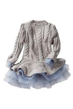 Flounce Sweater Tutu Dress (Toddler, Little Girls, & Big Girls)