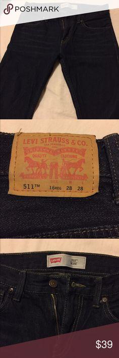 Boys Levi jeans New Dark blue jeans size 16 regular Levi's Bottoms Jeans