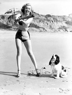 Marilyn Baseball.. Look at the expresion of the Dog ;) lol