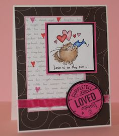 Would probably change the front a bit but love the brown background and heart/text background papers