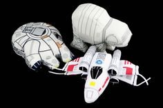Plush Millenium Falcon, AT-AT, and X-Wing Fighter!