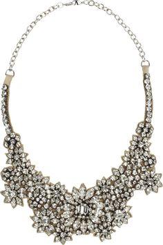 Valentino Jewel Flowers Swarovski crystal necklace