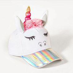 Girls' Emoji Unicorn Baseball Cap - White - image 1 of 2 Unicorn Hat, Unicorn Outfit, Unicorn Fashion, Girl Emoji, Unicorns And Mermaids, Kids Makeup, Unicorn Crafts, Cute Backpacks, Unicorn Birthday Parties