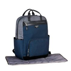 Product Image for TWELVElittle Unisex Courage Backpack Diaper Bag in Grey/Navy 3 out of Baby Diaper Bags, Diaper Bag Backpack, Backpacks, Unisex, Navy, Sewing, Leather, Image, Hale Navy