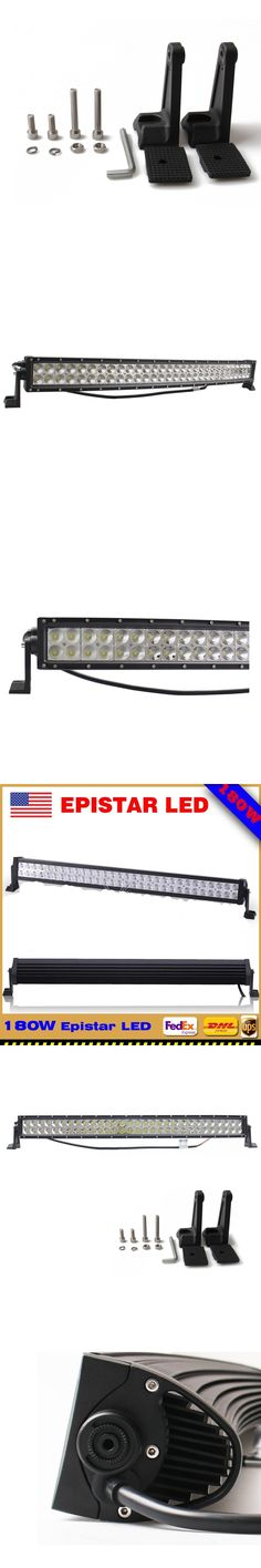 30in 180W Led Work Light Bar Curved Flood/Spot Combo Offroad Truck Suv For Jeep ATV