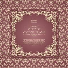 Romantic vintage frame vector material 01