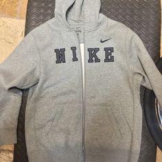 BRAND NEW  Gray zip up jacket Nike Jackets & Coats