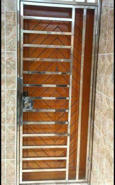 New Stainless Steel Door Design Ideas Window Grill Design Modern, Balcony Grill Design, Grill Door Design, Main Entrance Door Design, Door Gate Design, House Gate Design, Steel Bed Design, Stainless Steel Gate, Steel Security Doors