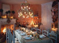 Décorations tables de Noël réveillon en provence