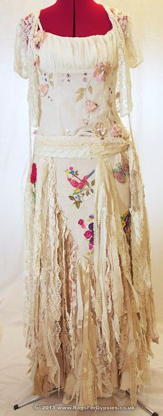 Exquisite Gypsy Rhiannon Ragged Tattered by RagsForGypsies on Etsy